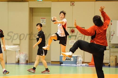 女子代表に選ばれた河嶋。大山とともにチームをけん引する