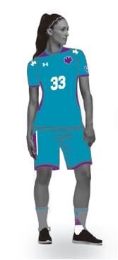 女子ハンドボール部のユニフォーム着用イメージ(プレスリリースより)