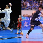 北電に追加登録された銘苅選手(左)と2年ぶりの現役復帰となる藤井選手は大阪に加入