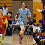 追加登録された選手たち。左から広島・近藤、広島・三橋、東日本・佐藤