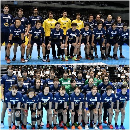 昨年に続き、今年も日本代表戦が東京で開催される(写真上から男子代表、女子代表)